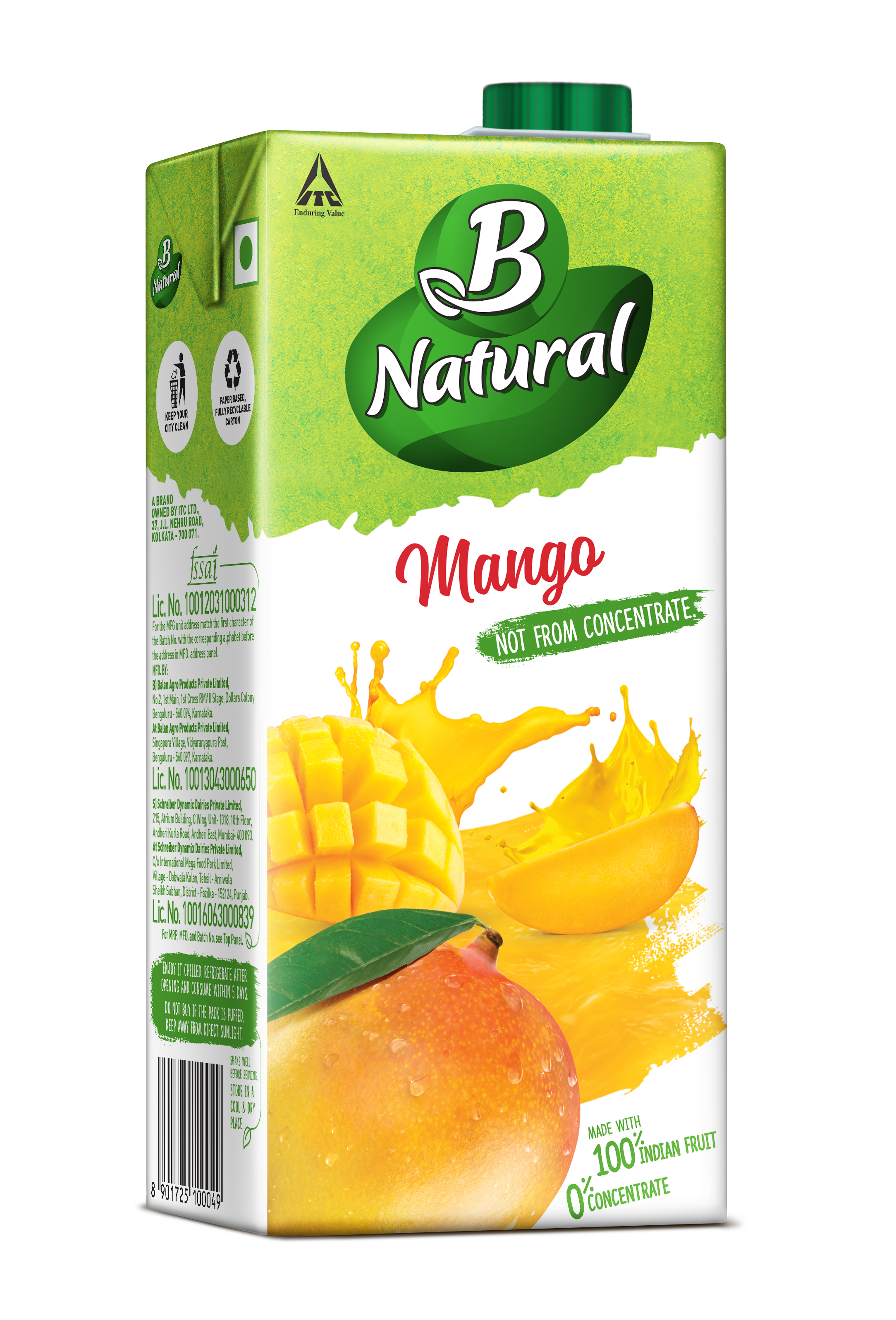 B Natural 100 Indian Fruit 0 Concentrate
